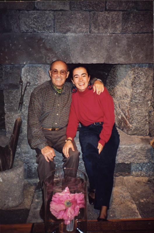 César Manrique con María Manrique