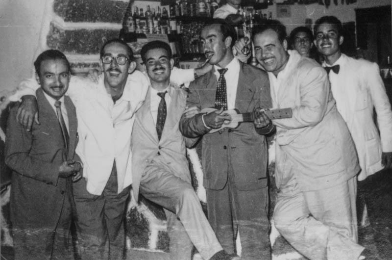 Amigos en las fiestas de San Ginés