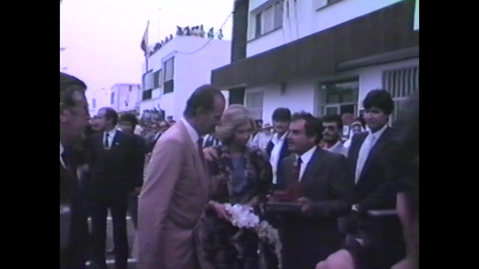 Visita de los Reyes de España a Arrecife de Lanzarote (1986)