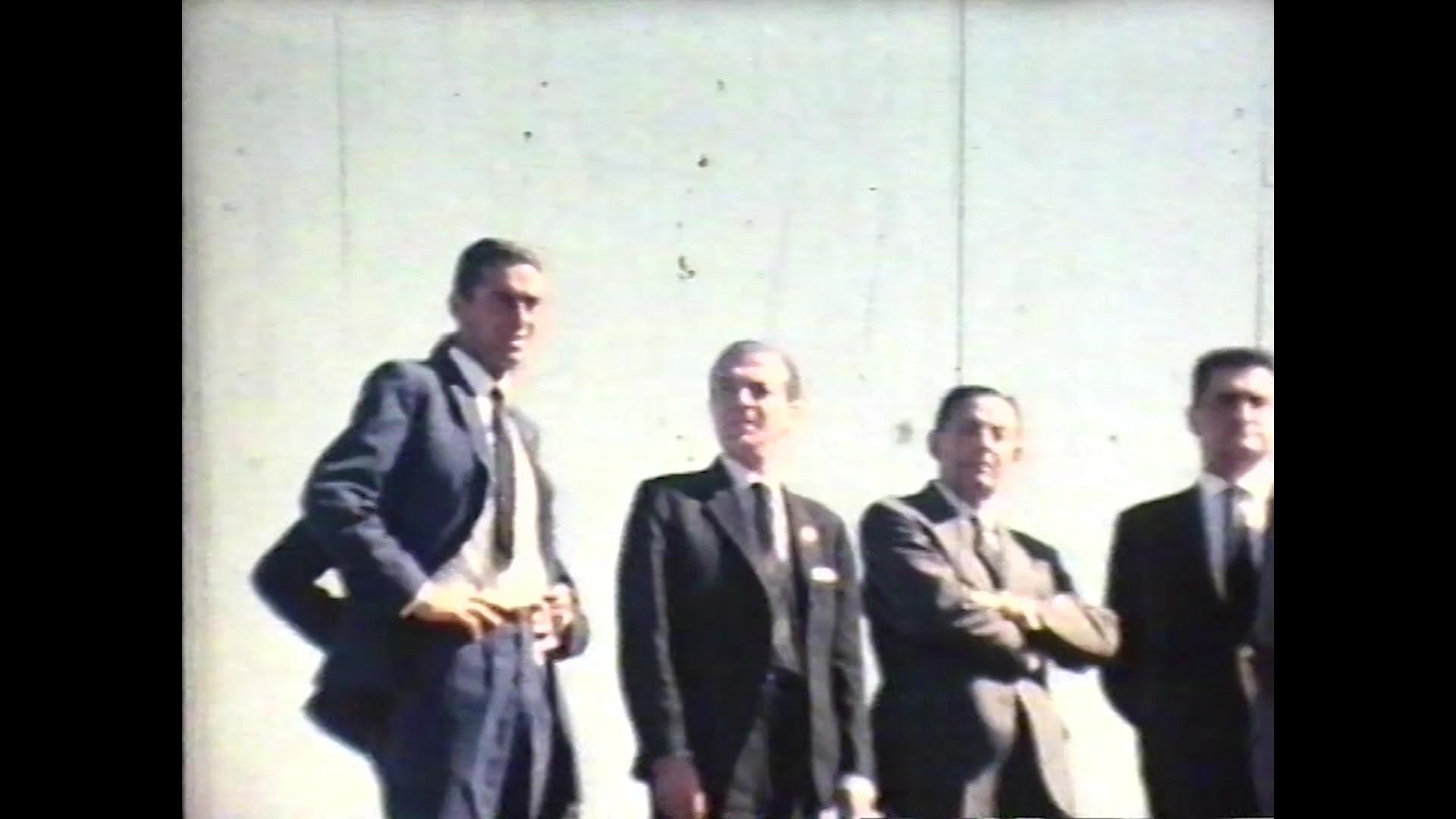 Visita de un ministro a Lanzarote en la década de 1960