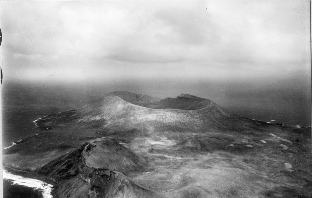 Imagen aérea de la isla de Alegranza II