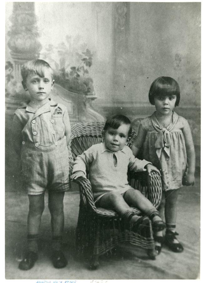 Agustín Pallarés de niño