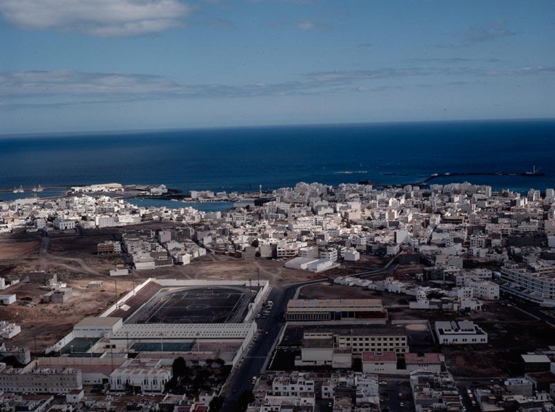 Vista aérea de la Ciudad Deportiva Lanzarote IV