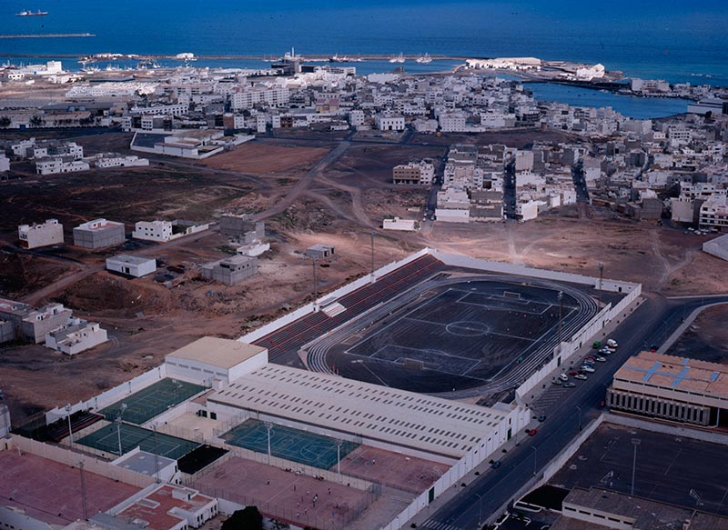Vista aérea de la Ciudad Deportiva Lanzarote II