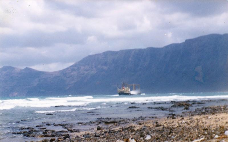 Barco hundido de Famara