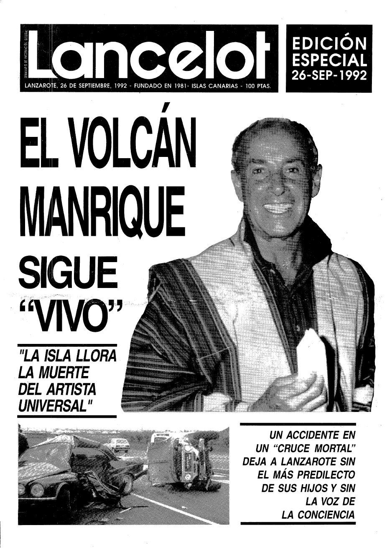 Edición especial del semanario Lancelot con motivo de la muerte de César Manrique
