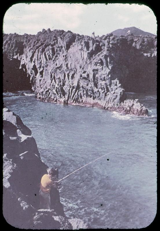 Pescando en Los Hervideros