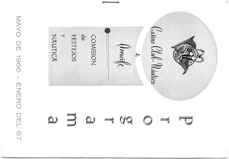 Programa del Casino Club Náutico de Arrecife 1966/67