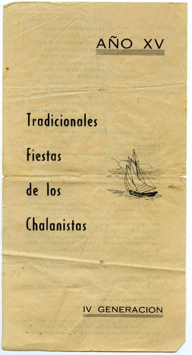 Programa de Los Chalanistas 1967