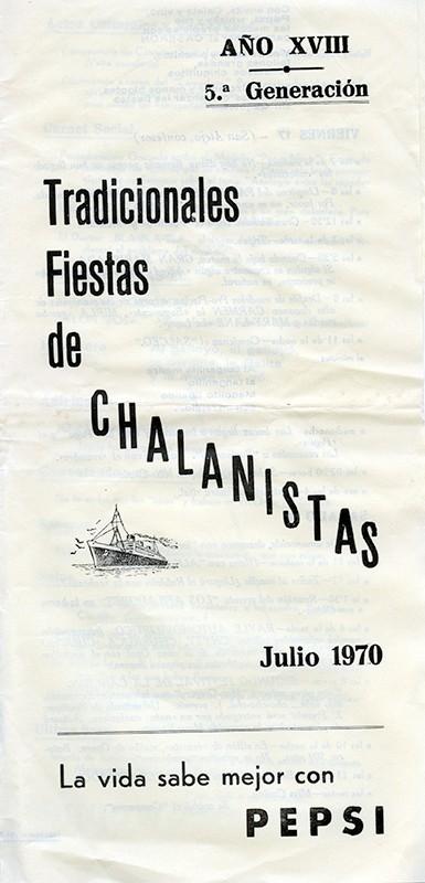 Programa de Los Chalanistas 1970