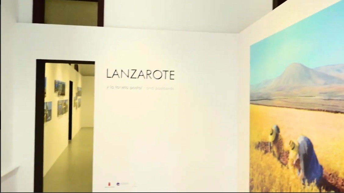 """Anuncio de la exposición """"Lanzarote y la tarjeta postal"""""""