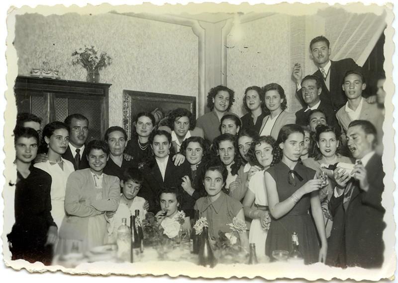 Amigos y familiares de celebración