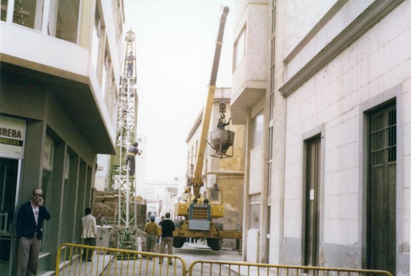 Construcción del edificio del Banco Santander V