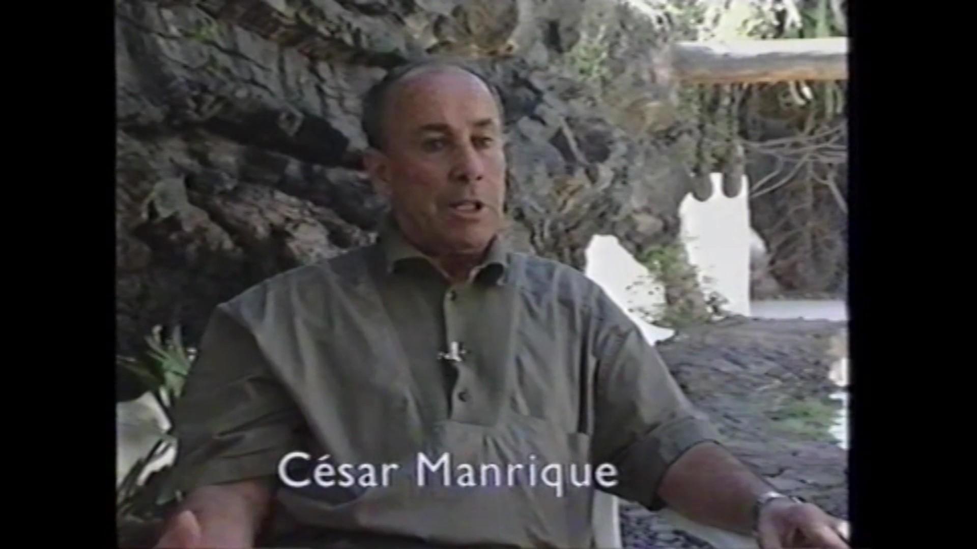 César Manrique en 'Isla de los volcanes' (1990)