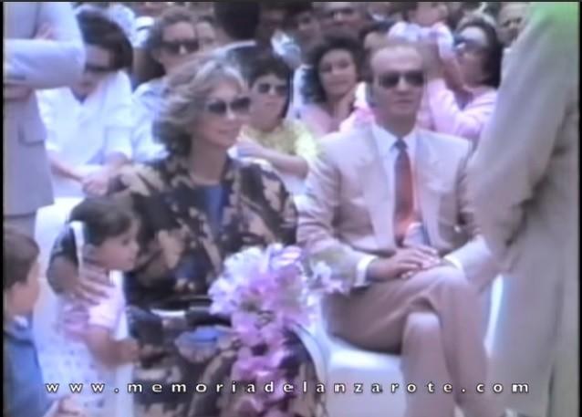 Visita de sus Majestades Los Reyes a La Graciosa y Lanzarote en mayo de 1986