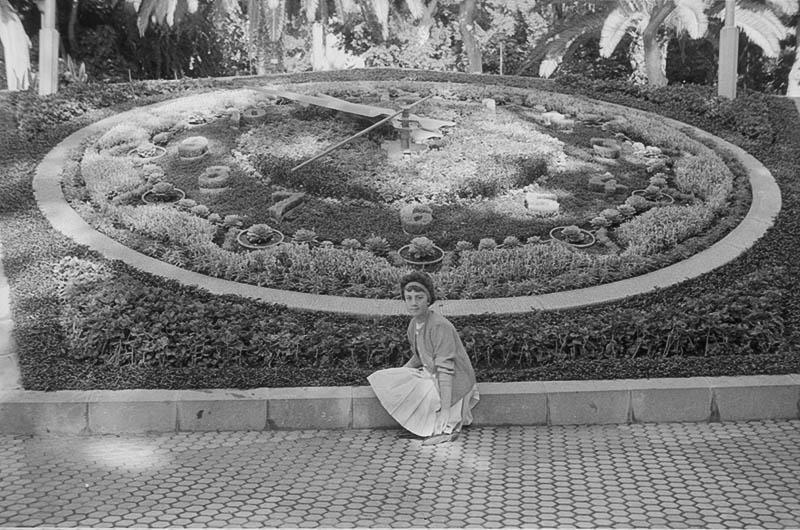 Mujer ante el Reloj de Flores