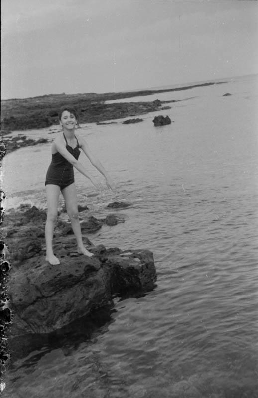 Bañistas en Punta Mujeres VI