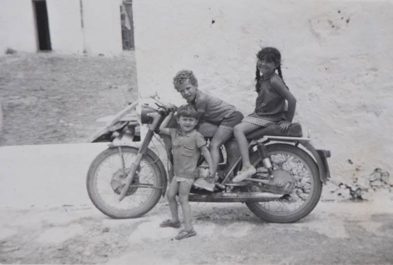 En la moto