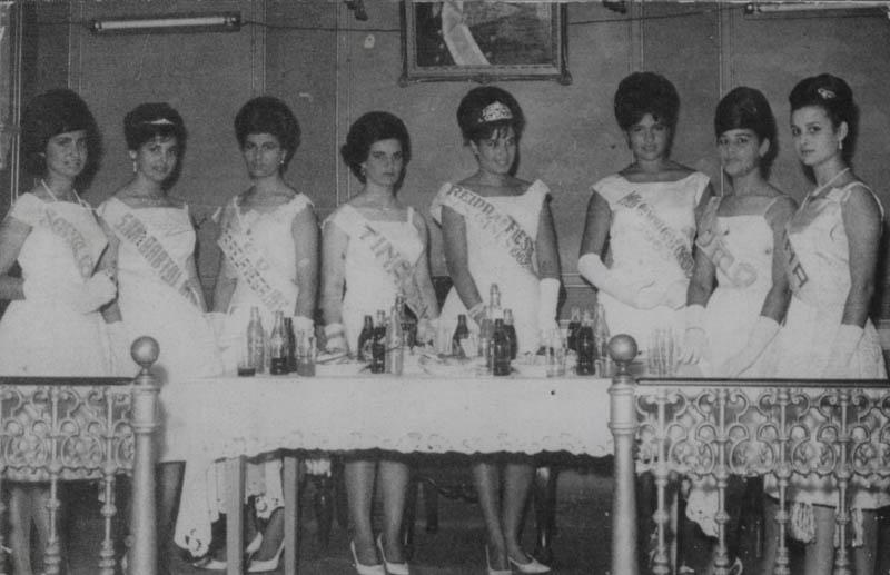 Participantes en la Reina de las Fiestas de Arrecife 1963