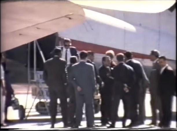 Visita de un ministro a Lanzarote en los años 60