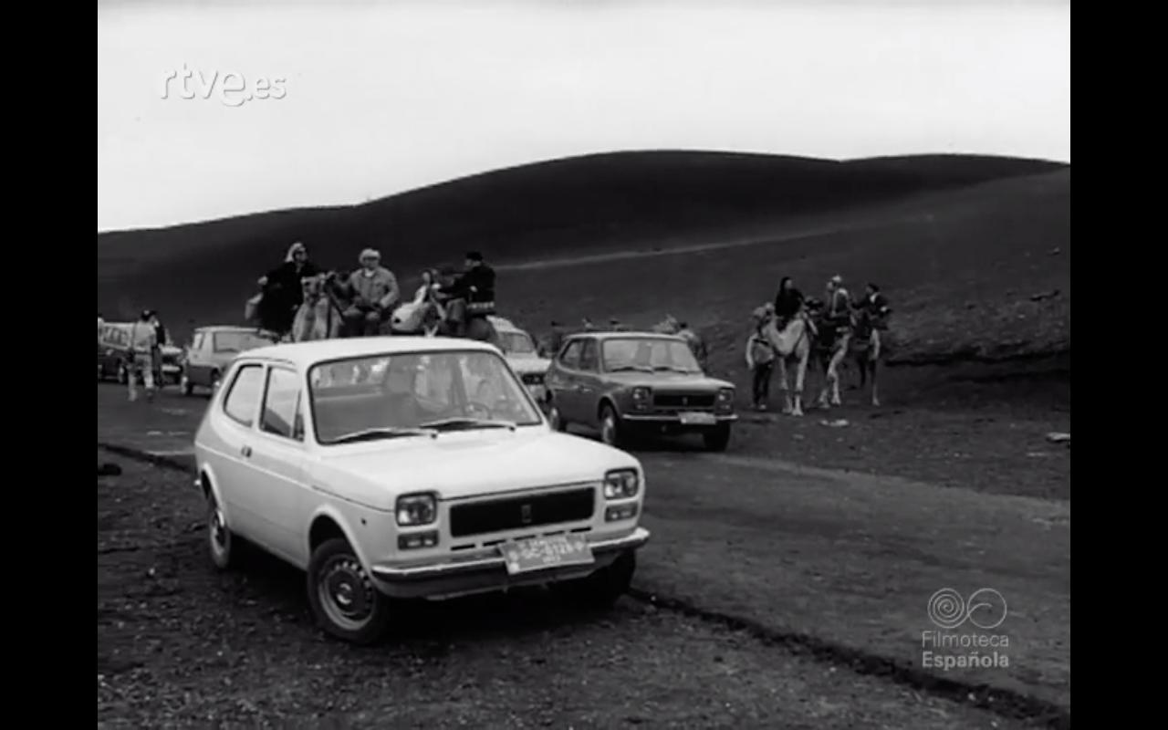 Presentación del nuevo modelo Seat 127 en Lanzarote (1972)
