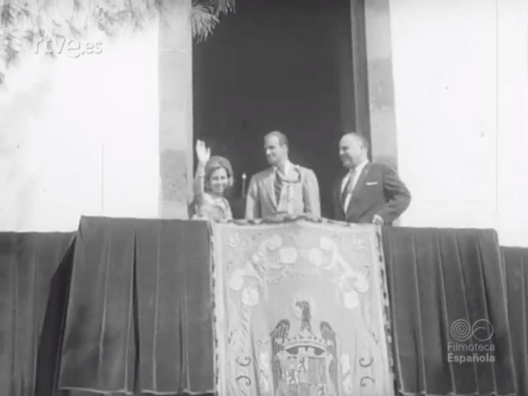 Visita de los Príncipes de España a Lanzarote (1973)