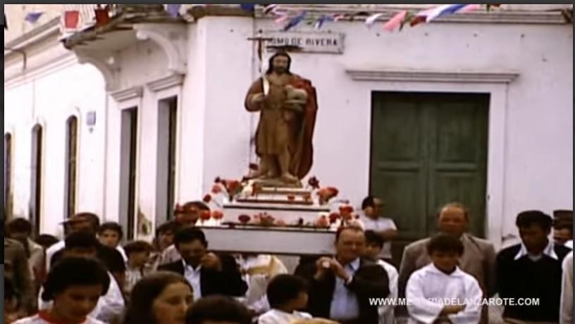 Procesión de las fiestas de San Juan de Haría