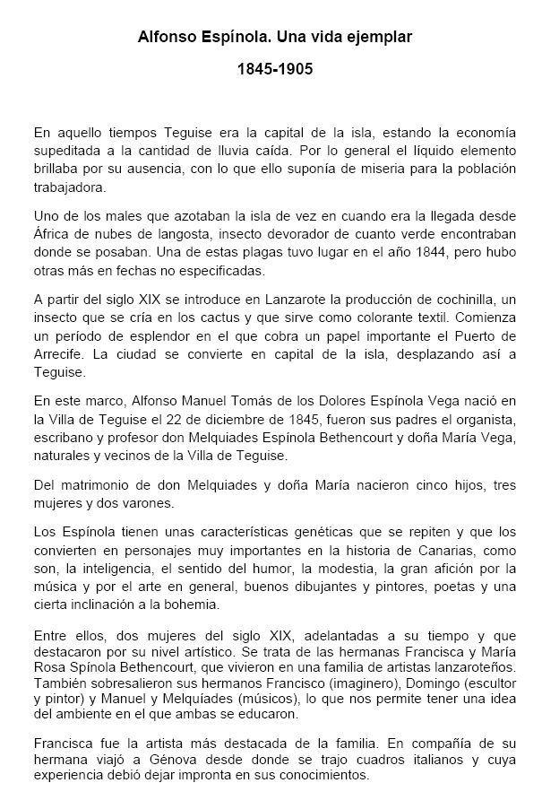 Alfonso Espínola. Una vida ejemplar
