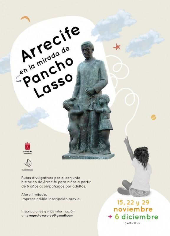 El Cabildo pone en marcha la ruta familiar «Arrecife en la mirada de Pancho Lasso»